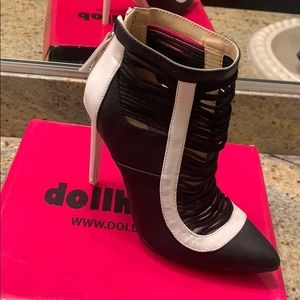 GX by Gwen Stefani Shoes - New black and white bootie (GX)